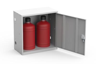 Шкаф для двух газовых баллонов ШГР 27-2 купить недорого в Екатеринбурге