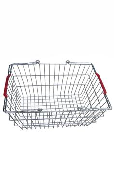 Корзина покупательская, цинк хроматированный (20л) для магазина супермаркета купить недорого
